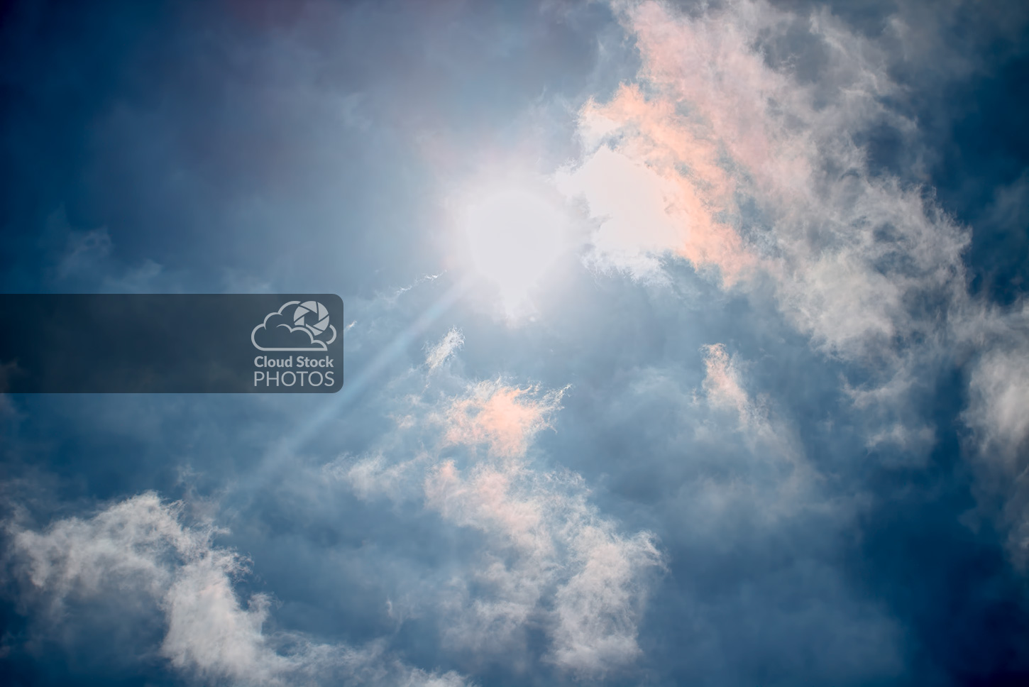 95049ba076ed0 Amazing Clouds Photo with Crepuscular Rays - Cloud Stock Photos